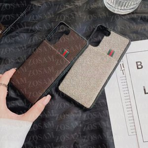 Vintage Letter Design Phone Cases For IPhone 13 Mini 13pro 12 12pro 11 Pro Max X Xs Xsmax Xr 8 7 Plus Leather Back Case for Samsung S21 S20 Ultra Card Pocket Cover