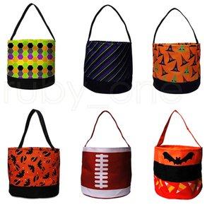 Halloween Doces Bucket Festa Favores Bolsas De Lona Festival Presente Envoltório Dos Desenhos Animados Abóbora Handbags Crianças Doces RARA4349