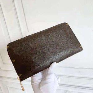 Wholesals fashion single zipper wallet pocke men women luxury Bags leather Designers wallets lady ladies long purse by bagandshoe 07