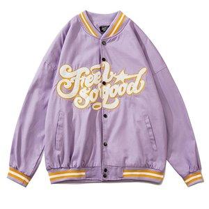 Мужские куртки 2021 Springautumn Буква Вышивка Бейсболка Женщин Пальт Пара Бомбер Унисекс Парень Стиль Varsity Street