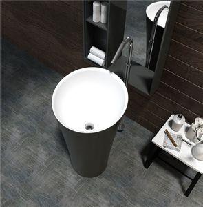 Bathroom Washbowl Integrated Ceramic Washbasin Toilet Column Vertical Floor Pedestal Basin Balcony Type Hand Wash Factory Outlet