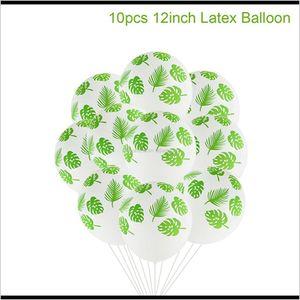 Other Event Supplies Qifu Latex Green Balloon Woodland Animal Palm Leaf Foil Ballons Safari Baloons Birthday Party Decor Kids Balon Ba Qvrxs