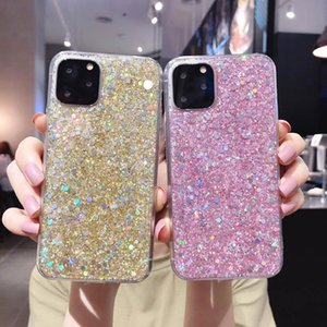 Colorful Sparkle Flake Foil Confetti Cover Bling Glitter Soft TPU Case For iphone 11 12mini Pro Max XS XR 8 7 6S Plus Cell Phone Cases
