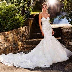 Edge Arrivals Kralen Crystal Applications Mermaid New Sirena Sweetheart Neck Backless Elegant Dresses