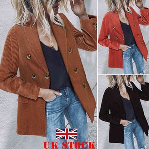 Winter Autumn New Women's Solid Elegant Long Collar Suit Jacket Ladies Slim Coat Casual Cardigan Outwear Button OL Office Wear