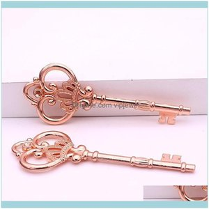 Findings & Components Jewelrysweet Bell 10Pcs Lot 32*84Mm Rose Gold Antique Metal Alloy Lovely Large Crown Key Vintage Jewelry Keys Charms D