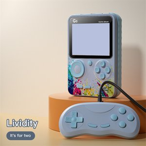 Doubles Joueurs Jeux G5 Mini Jeu Vidéo Retro Console Portable Portable 3.0 pouce Classic Pocket Construit 500 Jeux Macaron