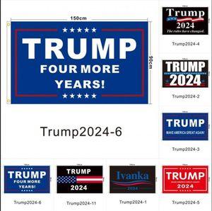 In magazzino Trump Election 2024 Trump Keep Bandiera 90 * 150 cm America appesa Great Banner 3x5ft Stampa digitale Donald Trump Flag