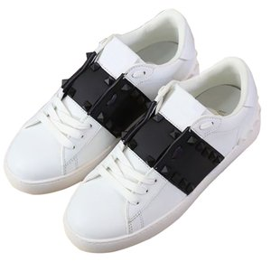 2021 high quality classic rivet small white shoes skateboard casual sports shoe leather men's and ace designer women's Black Pink Gold Frame skateboards