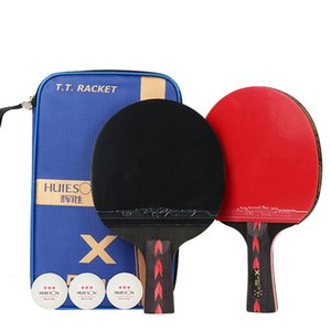 Wholesale-2pcs Upgraded 5 Star Carbon Table Tennis Racket Set Lightweight Powerful Ping Pong Paddle Bat with Good Control 121 X2