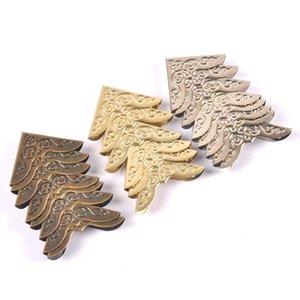 20Pcs Silver Golden Bronze Metal Book Corners Albums Menus Folders Box Corner Scrapbooking Protectors For Decor 30x30mm