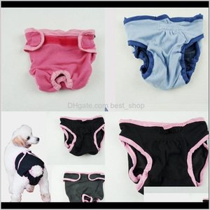Apparel Physiological Trousers Pet Bitch Dog Clothes Fashion Underwear Ventilation Supply Accessories Solid Color Menstrual Pants 12Dl Zkpg4