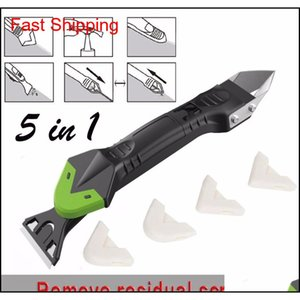 Squeegees Household Cleaning Housekeeping Organization Home & Garden Drop Delivery 2021 Creative 5In1 Sile Remover Caulk Finisher Sealant Smo