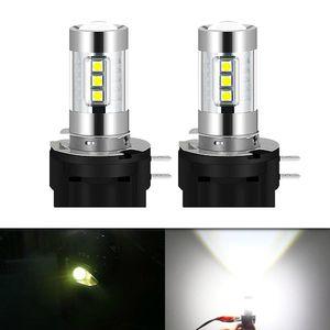 Car Headlights 2PCS 16smd 3030 LED Fog Light H11B 5600k 560LM Auto Front Lamp 5w 10-30V Spotlight High Quality Projector Lens White