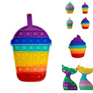 Push Pop Party Fubs Hivet игрушки для игрушек для взрослых радуги медведь ледяное мороженое кролика под напряжением сенсорный силиконовый игрушка 1567 T2