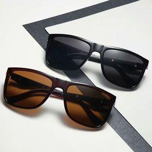 Classic Mens Sunglasses for Men Sun Glasses Shades Dark Lens Driving Goggles 4 Color Black Big Square Frames Standard Eyewear