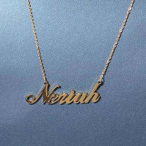 A-Z Nome feito sob encomenda Cartas de ouro colares de aço inoxidável gargantilha Mens moda hip hop jóias diy letter pingente colar