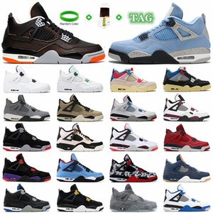 2021 Womens Mens Jumpman 4 4s Basketball Shoes men women jorden Sail Tattoos White Oreo University Blue Fire Red Taupe Haze Travis Bred Trainers Sneakers