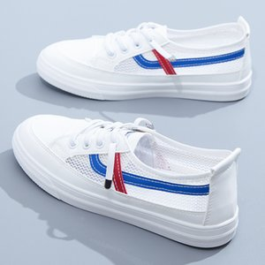 Skate shoes Women Casual White Sports Shoes Fashion Breathing Walking Mesh Flat skateboards Sneakers Vulcanised 0918