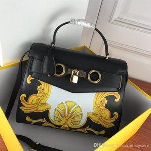 Высококачественная сумка для сумочки Большой мешок для посылки роскошный дизайнер Натуральная кожаная печать повседневная мода Специальная цена черные модные 888