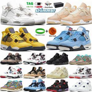Mens Shoes Jumpman 1 1s University Blue Sliver Toe Mocha Hyper Royal 4 4S Sail Court Purple High Top Sneakers Womens Trainers