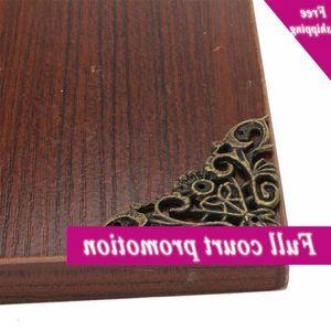 1 Pcs Doreenbeads Legering Embellishments Findings Ancient Flower Box Wooden Bronze Decoration Corner Pattern Hollow Z5F9