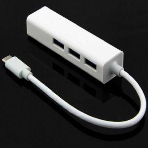 Hubs 4 em 1 hub Tipo-C para Gigabit Ethernet RJ45 LAN Rede Adapter USB 2.0 para computador portátil