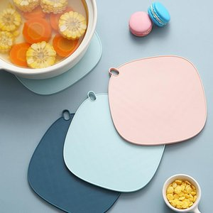Silica Gel Non Slip Cup Pads Anti Scald Insulation Mats Hanging Western Food Pad Restaurant Kitchen Table Decoration Placemat HWB10093
