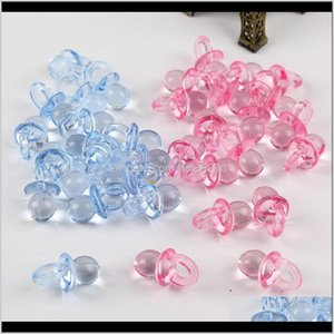 Acrylic, Plastic, Lucite Drop Delivery 2021 50Pcs Mini Plastic Pacifiers Nipple Acrylic Loose Beads Diy Making Toy Cake Decoration Ewelry Jew