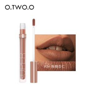 O.TWO.O Liquid Lipstick Matte Lip Gloss Cosmetic Lightweight Glaze Long Lasting Tint Waterproof 12 Color Lips Makeup