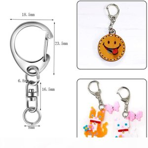 100Pcs Key Ring Key Chain D-Snap Hook Split Keychain Parts Ring Hardware with 8mm Open Jump and Connector