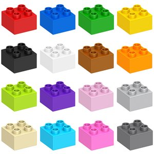 Diy Assembly Toys Large Particle Wholesale Building Blocks Accessories For Children Early Childhood Puzzle Bricks Kids Game 16 Colors