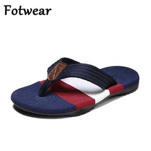 Summer Breathable Slippers Men Beach Flip Flops Slip On Men Shoes Outdoor Casual Slides Bathroom Slippers Flat Zapatillas Hombre 210908