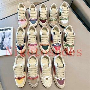 Sneaker Sneaker Blue Red Web Stripe Designers Shoes Italy Vintage Lujos Clásico Casual Zapatillas de deporte de cuero sucio Entrenador