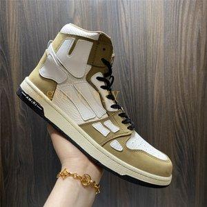 AJ 4S أMiri أحذية الهيكل العظمي العظام عارضة الأحذية المنخفضة أعلى الرجال النساء سلة أسود أبيض جلد الدانتيل يصل المدرب أعلى جودة الحجم من US5.5-US11 مع مربع