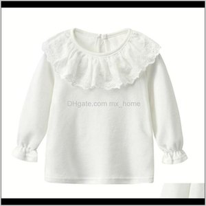 Kids White Shirts For Baby Girl Long Sleeve Ruffle Doll Collar Girls Blouses Autumn Children School Clothes Toddler Cute Tops 210305 X Vodly