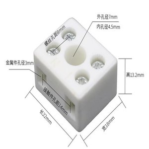 Five-hole Two-Position Ceramic High Temperature Resistant Connectors, Plugs & Sockets, 250V 10A