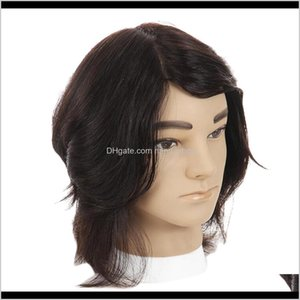 Heads Cosmetology Male Mannequin Head With Real Human Hair For Barber Shops Styling Cutting Practicing Jbp4E Lagtm