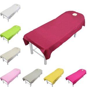 Sheets Conjuntos Lychee 100% Algodão Salão de Cama Spa Massagem Massagem Tabela Capa Folha Sólida Cor Beauty Home Têxtil