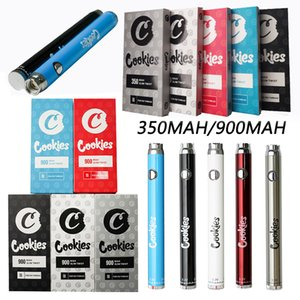 Cookies Battery Preheat Adjustable VV 350mah 900mah 510 Thread Electronic Cigarettes Vape Pen Batteries with USB Charger In Stock