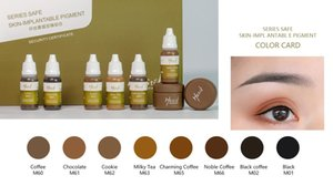 Tattoo Inks Mastor Microblading Eyebrow Ink Pigment Kit 15ml 6 Colors Black Paste Eyeliner