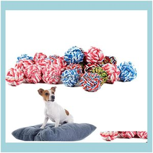 Chews Home & Garden Toys Bite-Resistant Wear-Resistant Cotton Rope Ball Dog Chew Bite Molar Toy Pet Supplies 3Size T2I5924 Drop Delivery 202
