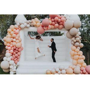 Коммерческие взрослые дети надувные белый свадебный надувной замок, 4x4m домик на день рождения вышиба