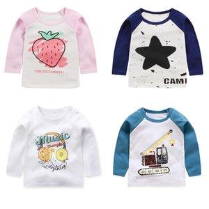 Autumn Kids Boys Girls T Shirt Print Long Sleeve Baby Girls T-shirts Cotton Children T-shirt O-neck Tee Tops Boy Clothes