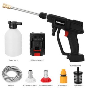Pistolets de pulvérisation professionnelle KKMOON 21V portable sans fil Lithium Lithium Washing Outils de lavage 4L / Min Flux d'eau de jardin Rangement de jardin Agriculture IRRI