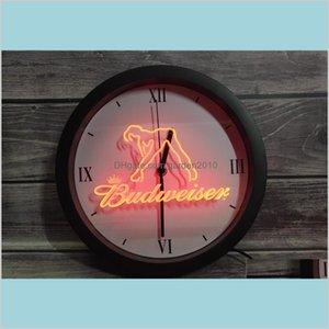 Wall Clocks Home Décor & Garden 0E133 Budweiser Exotic Dancer Stripper Bar App Rgb Led Neon Light Signs Clock Drop Delivery 2021 Nmzuv