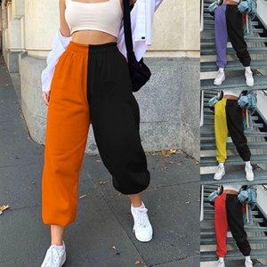 Весна 2021 Эластичная талия Все-матча модные повседневные брюки гарема фабрики прямые продажи