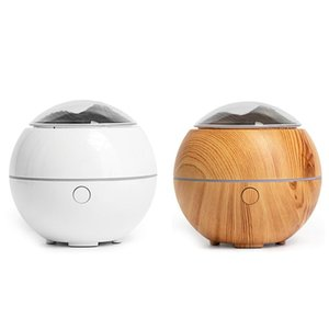 Air Humidifier Light USB Aroma Essential Oil Diffuser Cool Wood Grain Lamp Night Lights Humidifiers