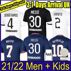 21 22 pari s MESSI SERGIO RAMOS Soccer Jerseys WIJNALDUM Saint Germain MBAPPE HAKIMI football shirt MARQUINHOS VERRATTI Men kids kit Maillots equipe