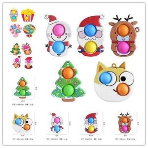 Fidget Toys Sensory Bubble Toys Simple Dimple Antistress Cute Christmas Bubble Push Antistress for Hands Squezze GWB10450
